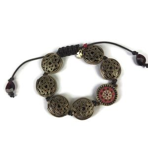 Lucky Brand Shamballa Style Beaded Bracelet